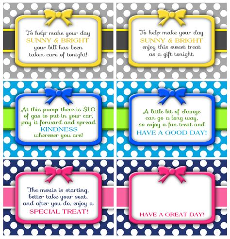 printable images of kindness random acts of kindness cards darling doodles