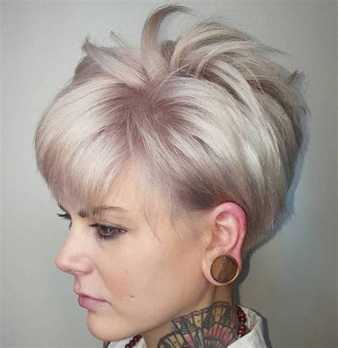 ash blonde pixie 100 mind blowing short hairstyles for fine hair pixie