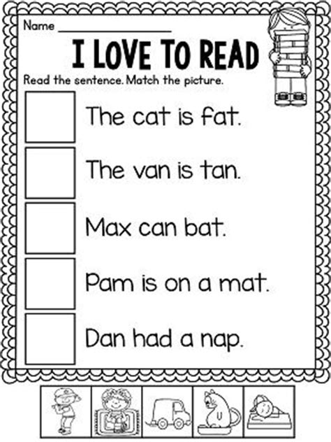 Learn To Read Worksheets For Kindergarten by A Worksheets And Activities No Prep Pictures