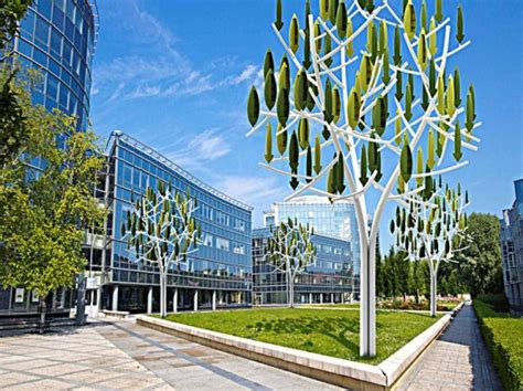wind architecture new silent wind tree turbines make energy production