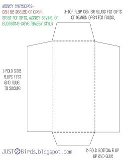 How To Make A Money Envelope Out Of Paper - just 2 birds envelope templates free