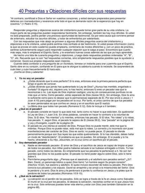 preguntas dificiles con sus respuestas 40 preguntas y objeciones dif 237 ciles con sus respuestas