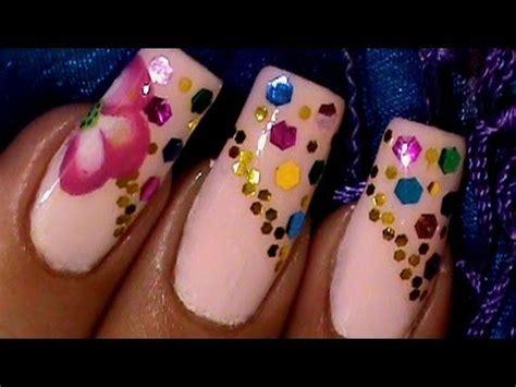 easy nail art poppy design one stroke how to paint a one stroke red poppy flower nail art design