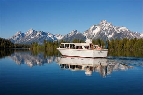 boat cruise yellowstone 3 meals while cruising floating or riding in grand teton
