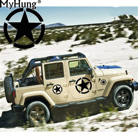jeep wrangler sticker us army vinyl car decal bumper sticker fit for jeep