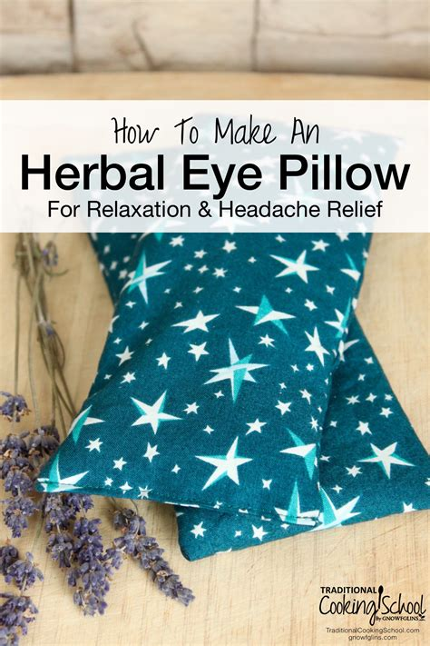 how to make an herbal eye pillow for relaxation headache
