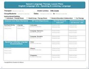 speech and language lesson plan template common speech language interactive lesson plan