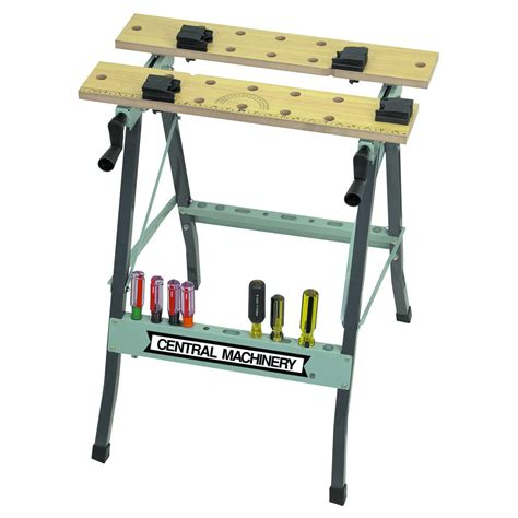 collapsible work bench folding cling workbench with movable pegs