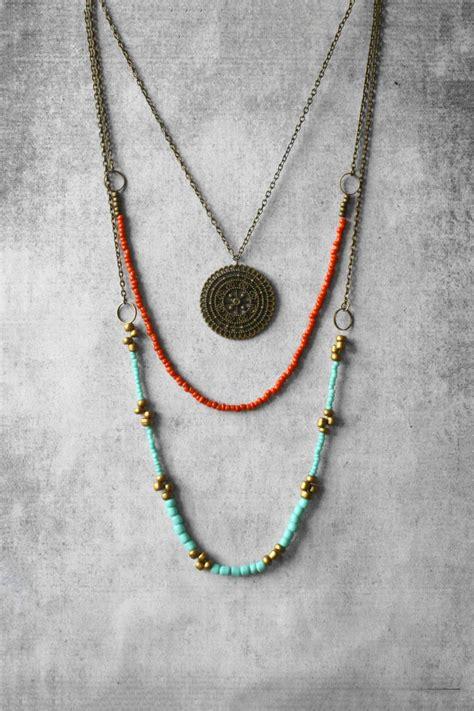 sale jewelry layered necklace boho necklace by anankejewelry