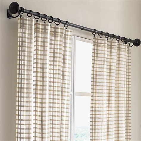 ross natural sheer curtains crate and barrel