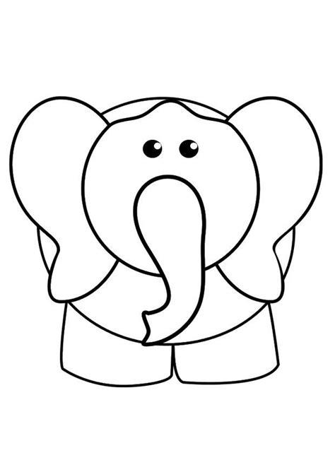 imagenes de elefantes faciles para dibujar dibujo para colorear elefante img 29425