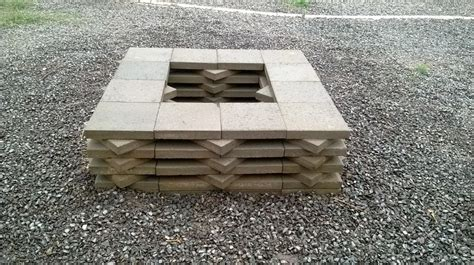 diy pit pavers how to build a paver pit fireplace design ideas
