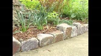 garden ideas stone garden edging ideas youtube