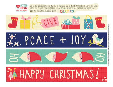 christmas freebie paper chain by tammie bennett for happy