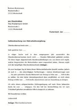 Mahnung Schlussrechnung Vob Muster vorlage verg 252 tung 220 berstunden geltend machen