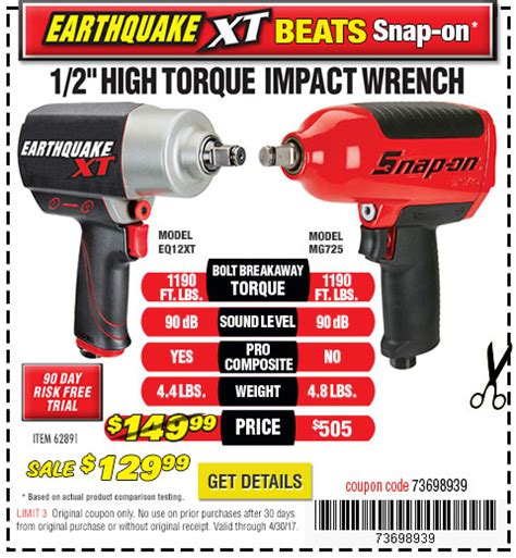 earthquake xt coupon harbor freight tools quality tools at discount prices