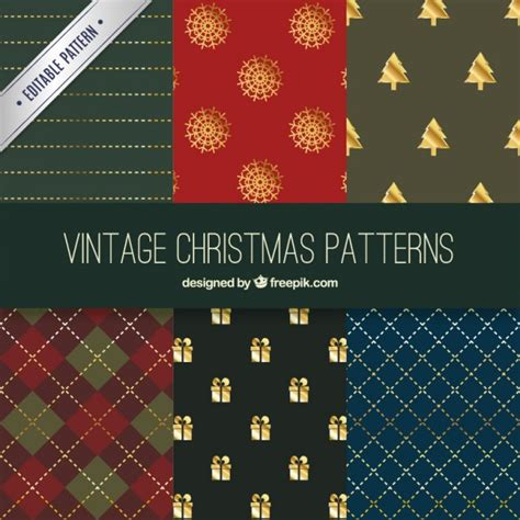 christmas patterns early years vintage christmas patterns collection vector free download