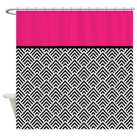 hot pink chevron curtains hot pink and black chevron shower curtain by antique images