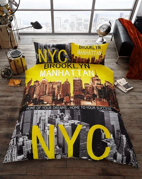 Nyc Set manhattan nyc premium duvet cover bedding set single king payndoo style