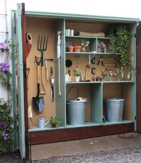 Garden Shed Organization Ideas Tiny Potting Shed S Garage Gardenista The Yard Pinterest