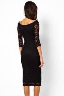 Pretty lady black lace overlay evening midi dress lc6287 2