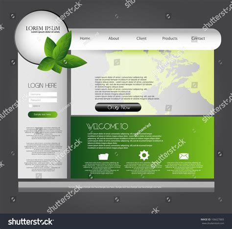 Modern Web Design Template Stock Vector 106627883 Shutterstock Contemporary Website Templates