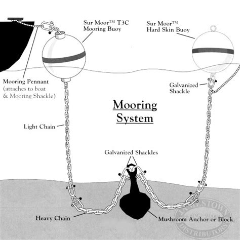 boat anchor buoy system mooring basics how to install a permanent mooring