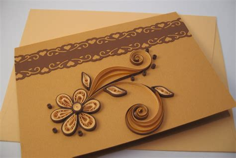 Paper For Card - quilled birthday card paper handmade greeting card thank