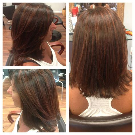 dk mahogony highlights chocolate copper highlights with a dark brown base
