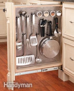 kitchen cabinet rollouts kitchen storage cabinet rollouts the family handyman