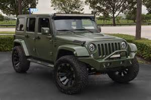 Green Jeep Wrangler Spotlight Custom Matte Green Jeep Wrangler