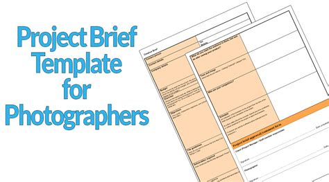 templates for photographers project brief template for photographers