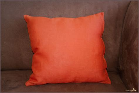 coussin orange tutoriel coussin orange couture