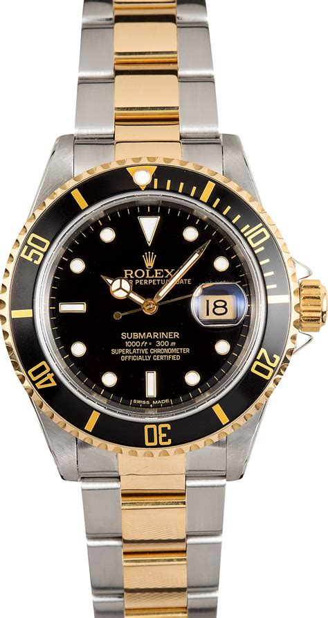 Rolex Oyster Submariner 2 rolex submariner two tone 16613 oyster black