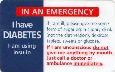 diabetic wallet card template 2012 survival supplies diabetes emergency wallet card