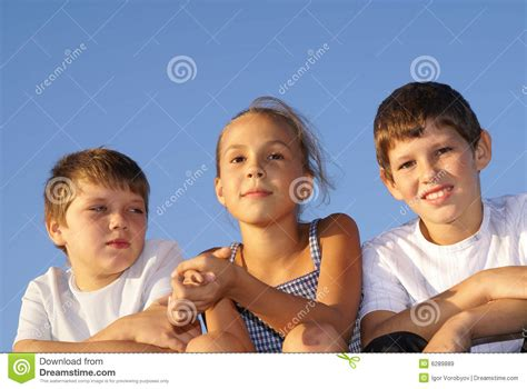 preteen model stock photos and images three preteen friends stock image image of blue model
