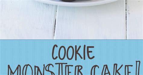krümelmonster kuchen rezept cookie cake filled with cookie dough frosting