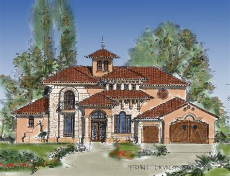 planning design for tuscan mediterranean with warm