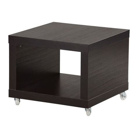 Lack Side Table On Casters Hmmm Two Of These Together Coffee Table With Wheels Ikea