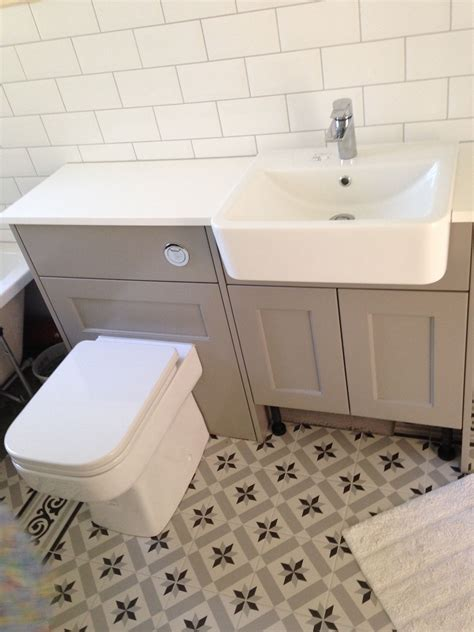 Fired Earth Bathroom Furniture Roper Burford Mocha Geo Bathroom Suite Fired Earth Patisserie Sucre Floor Tiles White