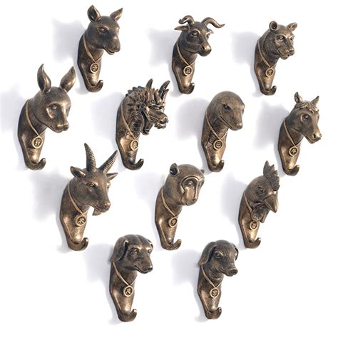 unique wall hooks aliexpress com buy unique chinese zodiac resin robe hook