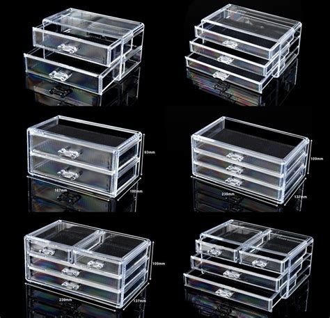 Acrylic Makeup Storage Drawers by Cosmetic Organizer Acrylic Makeup Drawers Box Jewelry