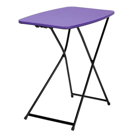 Cosco Table by Cosco Purple Adjustable 2 Pack Folding Tailgate Table