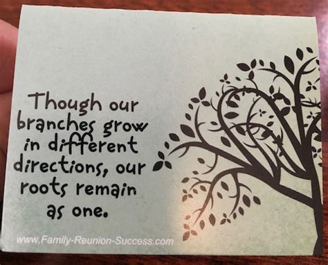 Wedding Quotes Roots by Family Reunion Saying Quot Though Our Branches Grow