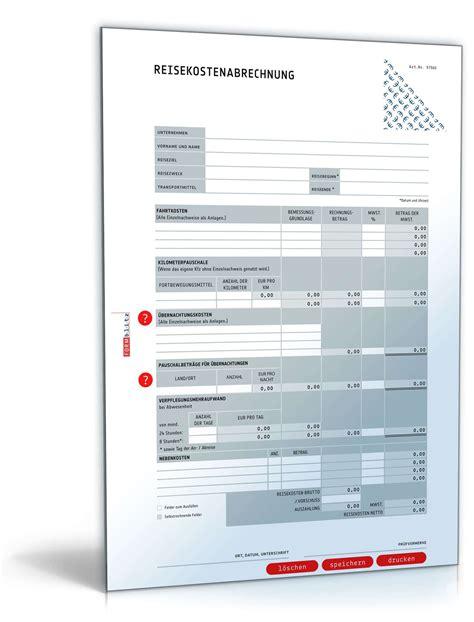 Muster Formular Reisekostenabrechnung Reisekostenabrechnung 2016 Selbstrechnendes Muster Zum