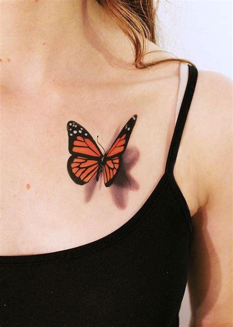 3d henna butterfly tattoos design idea for men and women