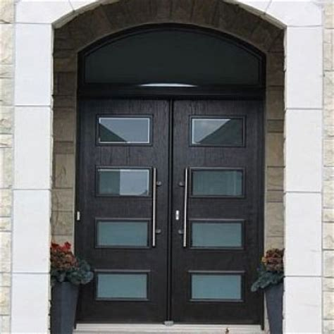 modern contemporary front entry wood doors with transom