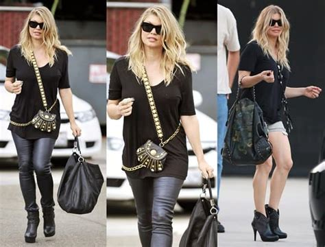 Name The Bag Fergie by Fergie Carries Around Gold Trimmed Mini Crossbody Bag