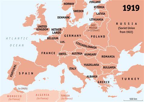 europe map 1919 europe map after world war 1 1919