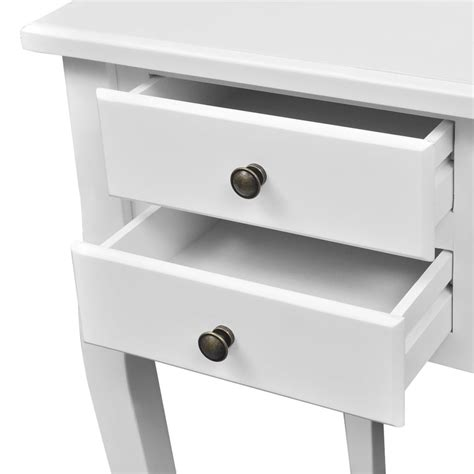 Wooden Desks With Drawers by Wooden Desk With Curved Legs And 5 Drawers Vidaxl